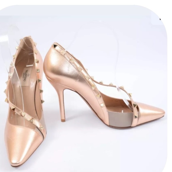 valentino rose gold sneakers